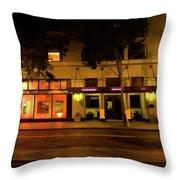 Streets Of San Jose, Ca Midnight Throw Pillow