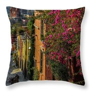 Streets Of San Miguel Throw Pillow