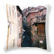 Streets Of Siena Photograph Throw Pillow