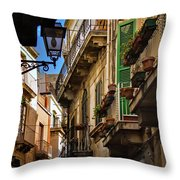 Streets Of Siracusa Throw Pillow