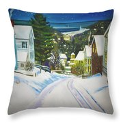 Streets Of Snow Throw Pillow