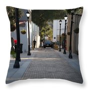 Streets Of St. Augustine Throw Pillow