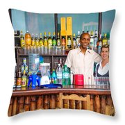 Streetside Welcome - Faces Of Havana Throw Pillow