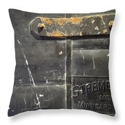 Stremel Bros. Firedoor Throw Pillow