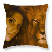 Strenght And Tenderness Throw Pillow
