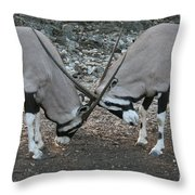 Strength Of Honor Throw Pillow