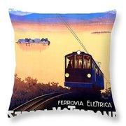 Stresa - Mottarone, Cable Car, Italy Throw Pillow