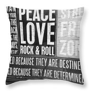 Stress Free Zone Too Throw Pillow
