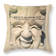 Stress Relief Quote Throw Pillow