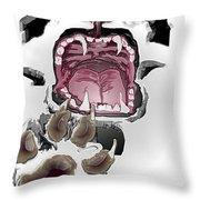 Stressed Throw Pillow