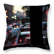 Stret Car Traffic Throw Pillow