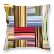 Stretch Of Colors Throw Pillow