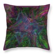 Stretched Colors Throw Pillow