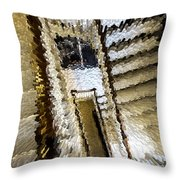 Stretched Stairs Throw Pillow