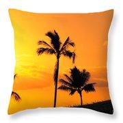 Stretching At Sunset Throw Pillow
