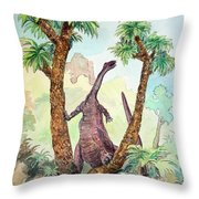 Stretching For Lunch Throw Pillow