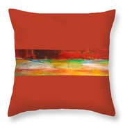 Stretching Land Throw Pillow