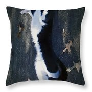Stretchy Cat Throw Pillow