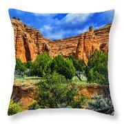 Striated Mountains Throw Pillow