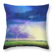 Strike From The Heavens Throw Pillow