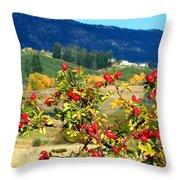 Striking Autumn Red Throw Pillow