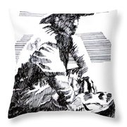 Striking It Rich Throw Pillow