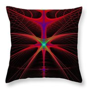 String Alien Throw Pillow