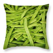 String Bean Heaven Throw Pillow