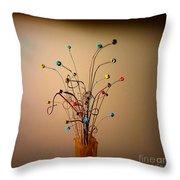 String Bouquet Throw Pillow