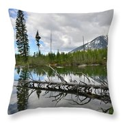 String Lake In Grand Tetons Throw Pillow