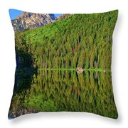 String Lake Morning Mirror Throw Pillow