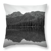 String Lake Reflections Bw Throw Pillow