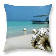 Boats And Buoys Throw Pillow