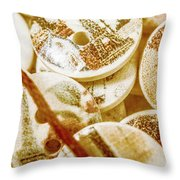 String Of Buttons Throw Pillow