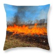 String Of Fire Throw Pillow