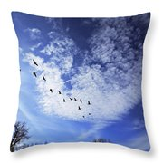 String Of Geese Throw Pillow