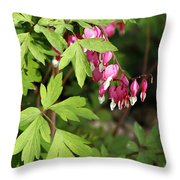 String Of Hearts Throw Pillow