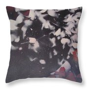 String Theory - Colored Leaves Throw Pillow