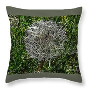 String Theory Dandelion Throw Pillow