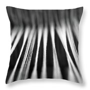 Strings In A Loom Throw Pillow