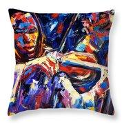 Strings Of Jazz Throw Pillow