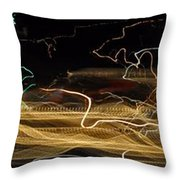 Strings Of Light Throw Pillow
