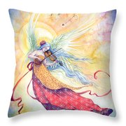 Strings Of Worship Throw Pillow