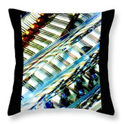 Strings Z100 Abstract Throw Pillow