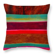 Stripe Assemblage 1 Throw Pillow