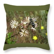 Striped Bee Throw Pillow