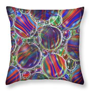 Striped Biggons Marbles Throw Pillow