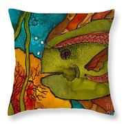 Striped Fish Throw Pillow