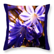 Striped In Blue Throw Pillow