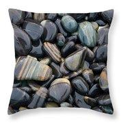 Striped Pebbles Throw Pillow
